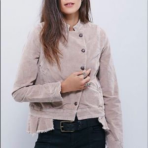FREE PEOPLE uncut cord moto jacket S